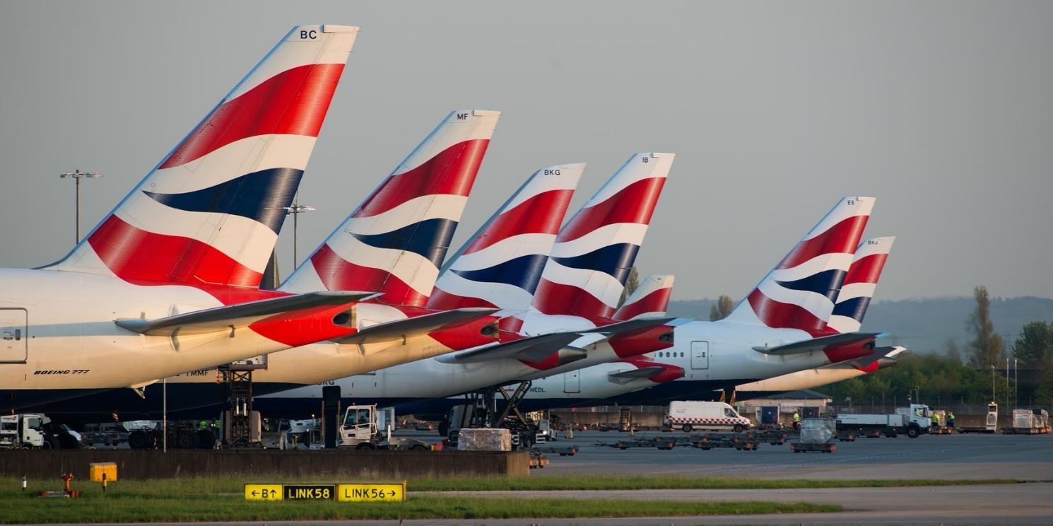 Flugzeug, British Airways, Krisis, Krise